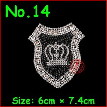 1 pcs/lot Clear Crown Hotfix Rhinestones Motifs Iron On Transfer Patches Strass Crystal Jewelry For Women Girl Dress Wedding