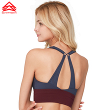 SYPREM Sports bra Women spell-color Yoga Bra Fitness Stitching push up brand Breathable Sexy Gym Tank Top,WX80114