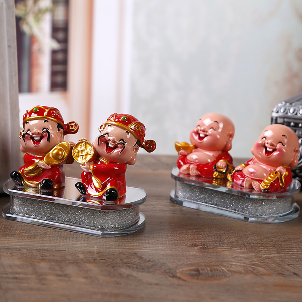 Auto Ornament ABS Glimlach Maitreya Boeddha god Van Rijkdom Pop Dashboard Ambachten Leuke god Van Welvaart Home Decoratie Meubels
