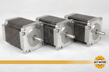 ACT Motor 3PCS Nema23 Stepper Motor 23HS8430 4-Lead 270oz-in 76mm 3.0A Bipolar CE ISO ROHS CNC Engraving Machine Milling image