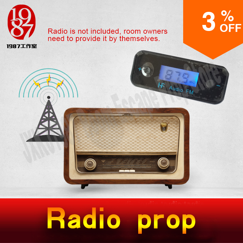Takagism game prop hot real life room escape prop radio prop figure out interference device to get the audio clues from JXKJ1987