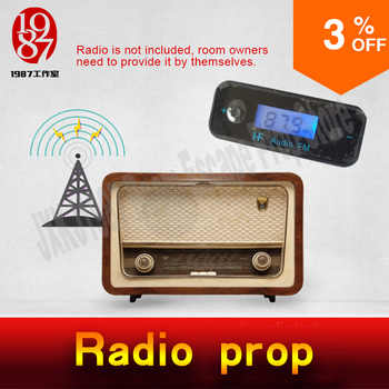Takagism game prop hot real life room escape prop radio prop figure out interference device to get the audio clues from JXKJ1987 - DISCOUNT ITEM  0% OFF All Category