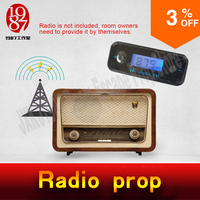 Takagism Game Prop Real Life Room Escape Props Jxkj1987 Radio Channel Prop Get Clues From The