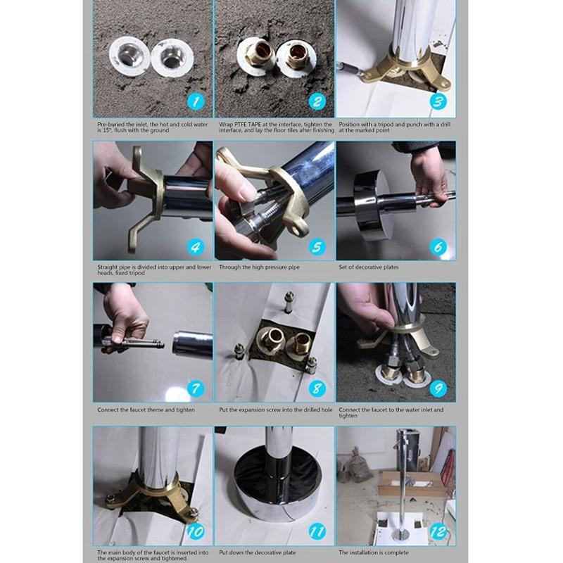 Smesiteli New Simple Style 100% Brass Chrome Or Matte Black Finish Floor Mount Bathroom Bath Tub Filler Freestanding Faucet Tap