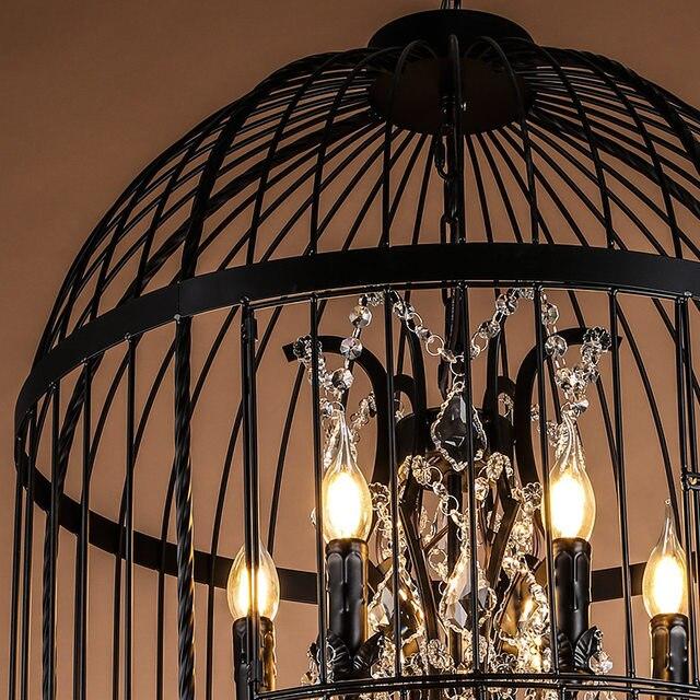 Online shop europe antique rust wrought iron cage chandeliers for europe antique rust wrought iron cage chandeliers for hallway entry kitchen dining room bedroom aloadofball Gallery