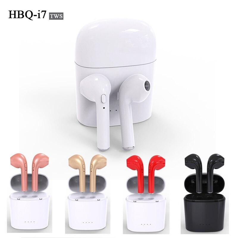 Hot HBQ i7 TWS Gemelli V4.2 Mini Auricolare Bluetooth Stereo Senza Fili Auricolare per Iphone 7 più 7 6 s 6 più 8 8 P X Galaxy S8 S9 LG