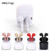 Hot HBQ I7 TWS V4 2 Mini Bluetooth Headset Stereo Wireless Twins Headset For Iphone 7