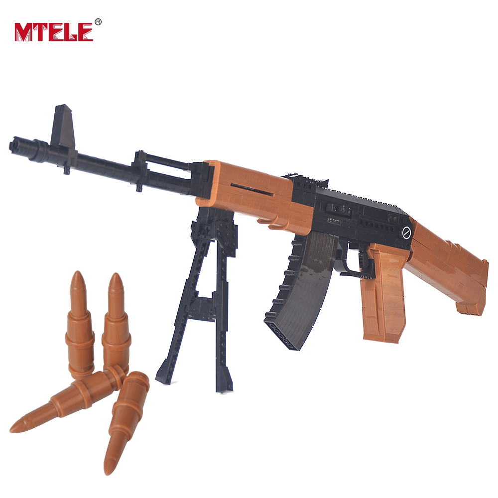 MTELE Brand Assault Rifle Model 617pcs Building Blocks Toy For Kids Gift 22706 Compatible with lego High Quality mtele 6729 toy building blocks minifigures gift for kids policeman swat and helicopter building bricks kit assemble set