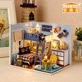 QUARTO BONITO Feito À Mão Boneca Modelo Móveis Em Miniatura DIY luz casa De Brinquedos De Madeira Crianças Os Adultos Presente de Aniversário de star trek GH463