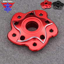 Riderjacky CNC Red Black Motorcycle Rear Sprocket Carrier Cover For Ducati SBK 748 / 916 / 996 / 998 Multistrada MTS 1000 1100 стоимость