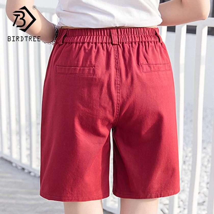 Plus Size 3XL Women Shorts Candy Color Fashion Cotton Pocket Straight Feminino Female Clothing Ladies Casual Khaki Short Femme