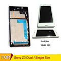 For sony z3 lcd display touch screen with frame for sony xperia z3 lcd screen tested D6603 D6653 L55T touchscreen Lcd