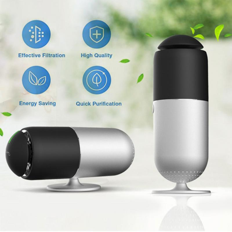 High Quality Car Air purifier Powerful Non Toxic Ozone Ionizer Air Purifier HEPA Portable USB Charging Home Use
