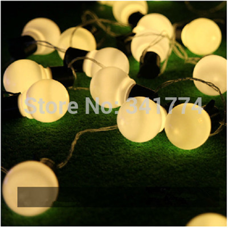 Big size luminaria 10m rgb led ball string lamps christmas lights big size luminaria 10m rgb led ball string lamps christmas lights fairy wedding garden new year pendant outdoor lighting garland in led string from lights aloadofball Gallery