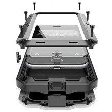 Тяжелые грязь шок из металла Алюминий всплеск Водонепроницаемый Панцири мощный Телефон чехол для iPhone 7 плюс 5 5S SE 6 6 S плюс + Горилла Стекло