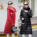 2016 Korean winter cotton in the long  female student size slim coat jacket knee extension thickening