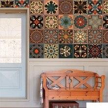 Pegatinas de pared de la decoración de casa habitación Vintage estilo mandala fijado de Auto adhesivo papel pintado decoración 2019