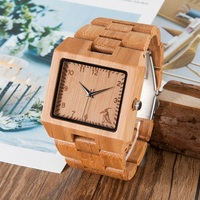 BOBO BIRD Top Brand Wristwatch Men Bamboo Band Watches Japan Movenment Quartz Watch In Gift Box