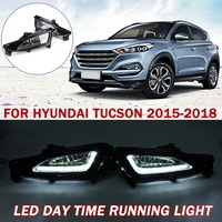 Autoleader 2Pcs DC 12V Auto LED Day Time Running Light For HYUNDAI For Tucson 2015 2016