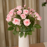 It takes 1 3 Simulation of 4 rose bud roses flowers lover rose wedding gift silk flower decoration artificial flowers cheap