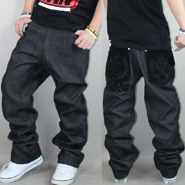 Calidad Hombres Moda Bordado Pierna Ancha Floja Casual Negro Denim Jean Pant Hip Hop Skateboard Marca Recta Pantalones Envio Gratis Trouser Hook Pants Polyestertrousers Grey Aliexpress
