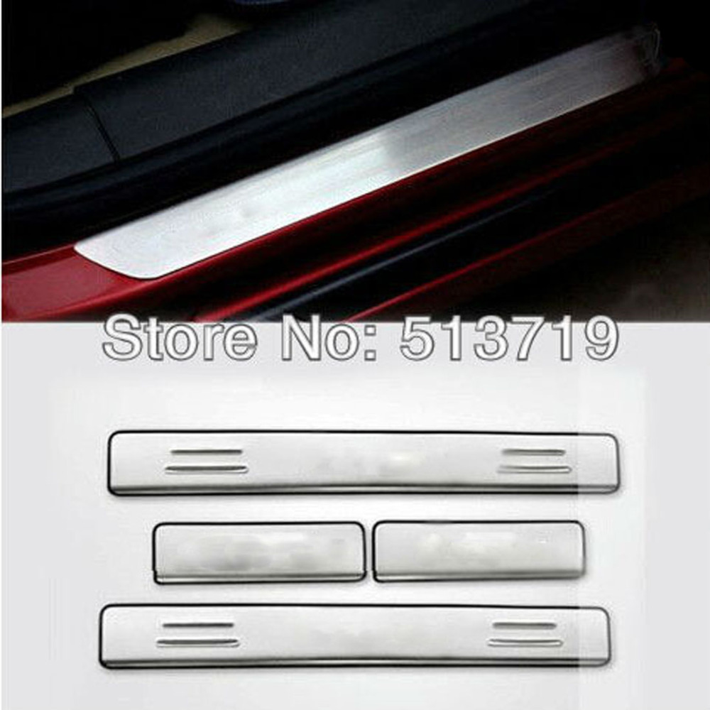 Dongzhen 4PCS Car Stainless Steel Door Sill Scuff Plate Trim Fit For Chevrolet Cruze 2009-2012 Auto Exterior Car Styling