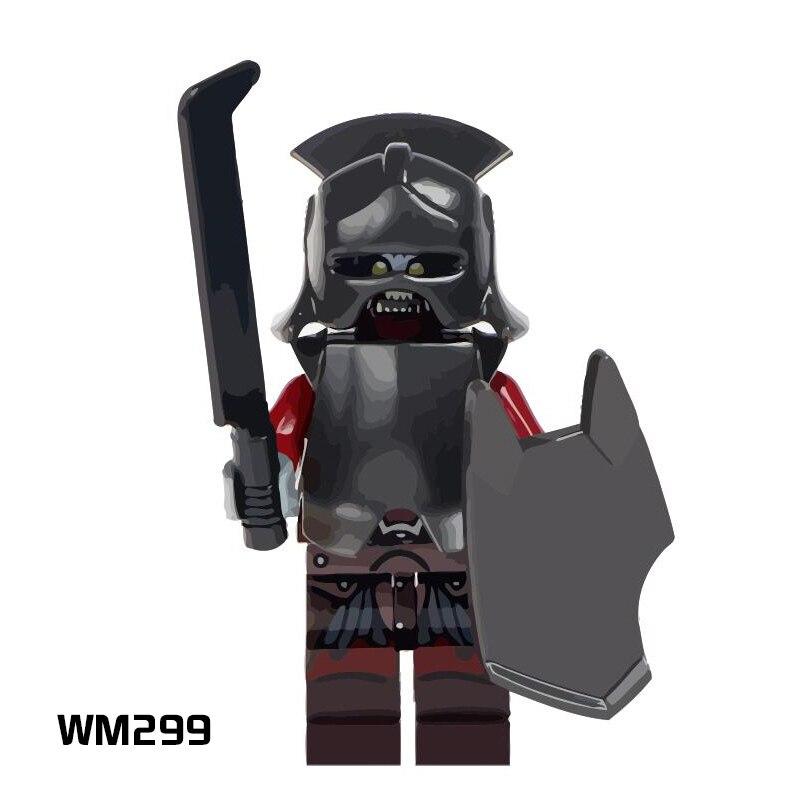 Loyal 50 Pcs/lot Wm299 Lord Of The Rings Uruk-hai Herr Der Ringe Helmet Bricks Kids Building Blocks Toys Children Gift Blocks