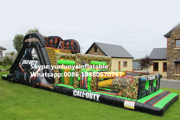 2017 Factory Direct Sales Inflatable Slides,Inflatable Castle, Inflatable Obstacles.Camouflage Obstacles KY-155