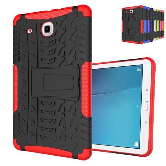 For Samsung Galaxy Tab E 9.6 T560 T561 Tough Impact Case Heavy Duty Armor Hybrid Anti-knock Silicon Hard Back Cover