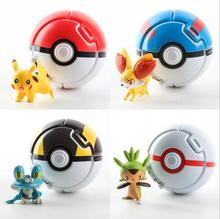 Throw Automatically Bounce Pokeball With Pikachu Figures Pikachu Anime Action Figures Creative Children's Toys