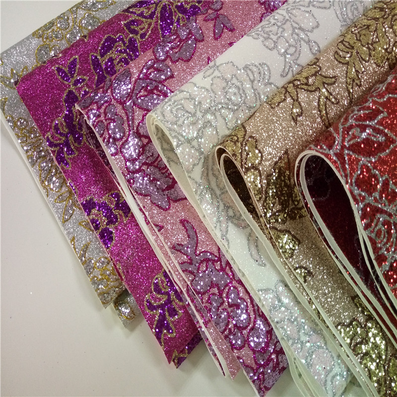 50m/Roll High Quality Glitter PU Leather Glitter Fabric For Wallpaper Wall Covering,Living Room Wallpaper