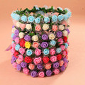Bohemian Flower Headband Bride Wedding Headwear 2017 Women Beach Style Crown Hairband Party Prom Festival Decor Hair Accessories