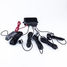 4pcs Sensors LED Display Parking Sensors Reverse Assistance Backup Radar Monitor Parking System Sensor Estacionamento