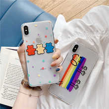 Phone Case For iPhone 6 6s 7 8 Plus X XR XS Max Fashion Cartoon Cute Bear Dog Soft Silicone TPU For iPhone X Phone Cases cover цена
