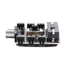 ПК IDE/SATA Molex 1 до 8 способ сплиттер Вентилятор охлаждения концентратор 3-контактный 12 V Мощность розетка адаптер PCB