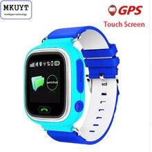 MKUYT Q90 GPS de Posicionamiento Del Teléfono Niños La Moda Del Reloj de 1.22 Pulgadas de Color SOS Pantalla táctil Reloj Inteligente PK Q50 Q60 Q80 Q730 Q750