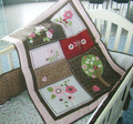 Crib bedding set 7Pcs 100% Cotton Cot bedding set Embroidery 3D tree branches dragonfly Baby bedding set Quilt Bumper bed Skirt