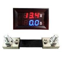 Voltmeter Shunt Digital Panel-Tester Monitor Led-Display Current 100A Red Blue DC 100V