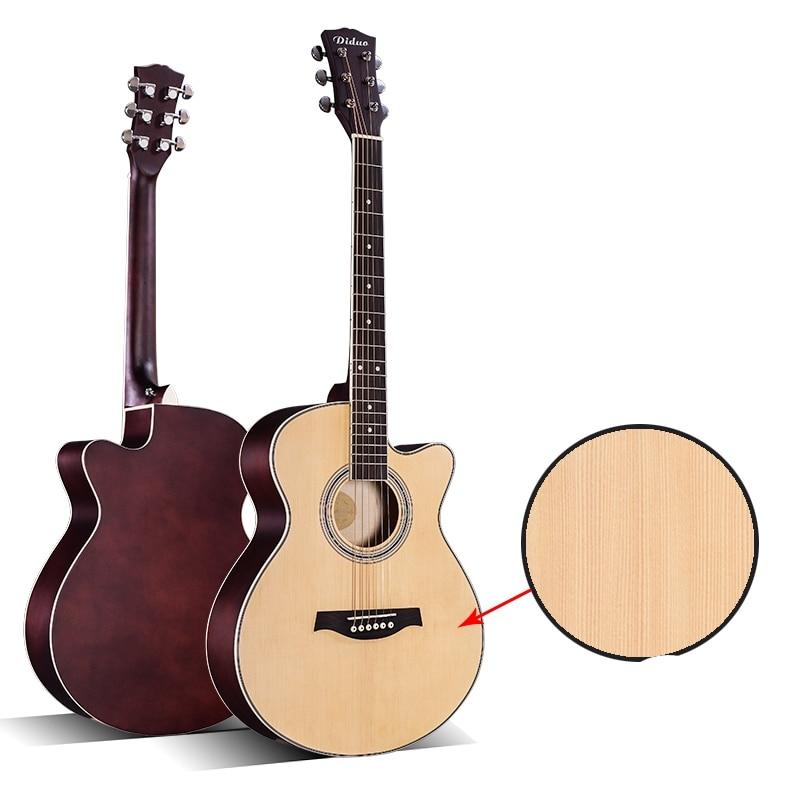 DIDUO 40 Acoustic Guitar Cutaway Rounded Corner Picea Asperata Acoustic Wood Hand Exerciser Guitarra amumu traditional weaving patterns cotton guitar strap for classical acoustic folk guitar guitar belt s113