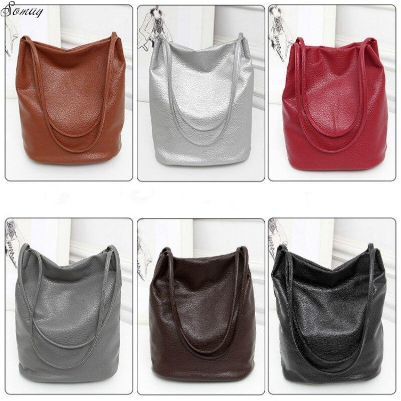 Womens Soft Leather Handbag High Quality Women Shoulder Bag Luxury Brand Tassel Bucket Bag Fashion Womens Handbags
