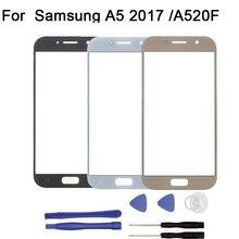 Ограниченное предложение Для Samsung Galaxy A3 A5 A7 2017 a320f a520f a720f touch Экран планшета спереди Стекло touch Панель Замена + инструмент