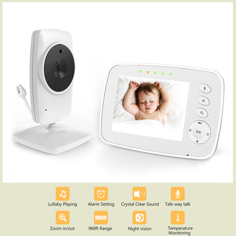 BM-850 3.5 inch LCD 2.4GHz Wireless Surveillance Camera Baby Monitor 8-IR LED