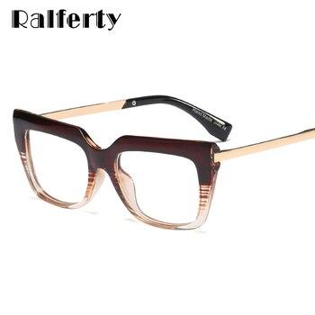 Ralferty קריאת משקפיים נשים 2019 רטרו כיכר משקפיים מותג אופטי מסגרת רוחק מרשם משקפיים F95137