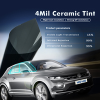 Security Window Tint Safety 15% VLT Ceramic Tint Car Protection film Heat Insulation 5x100ft/Roll