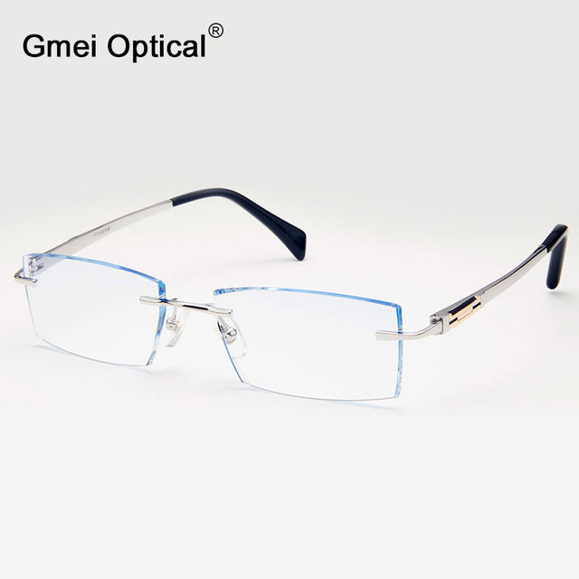 Gmei Optical Q1823 Rimless Diamond Cutting Fashion Eyeglasses with ...