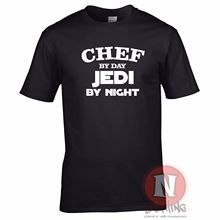 Chef by day, Jedi night funny retirement leaving birthday Star Wars t-shirt Free shipping  Harajuku Tops Fashion Classic
