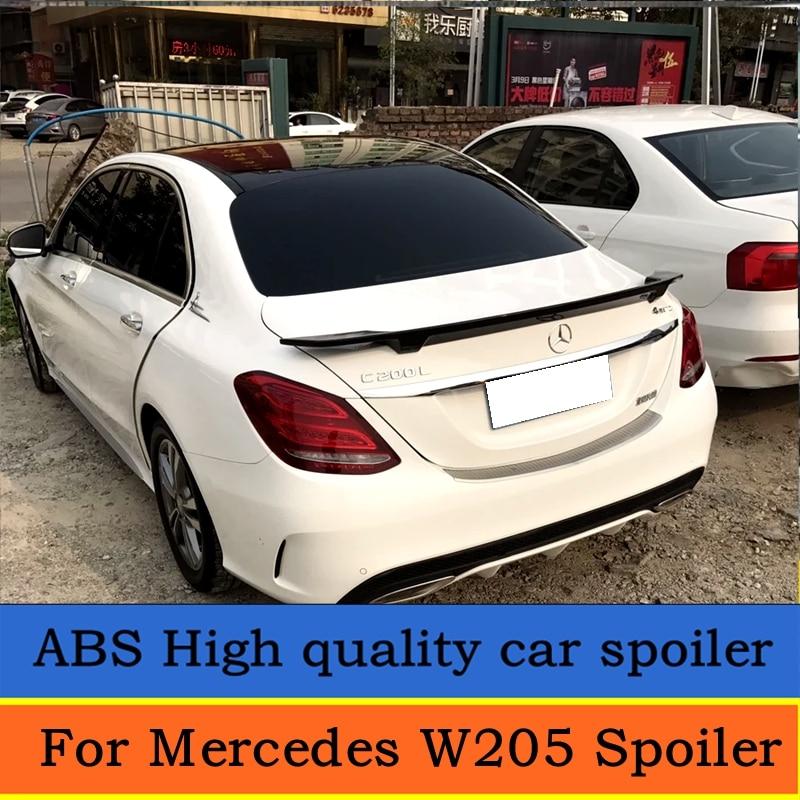 or Mercedes W205 Spoiler 4 Door Sedan C63 C180 C200 C250 C260 ABS spoiler For Mercedes W205 Spoiler 2015 2016 2017 2018