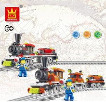Ali Mountain Travel Train Series With Track Building Blocks For Kids Christmas Birthday Toy Compatible with