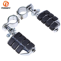 POSSBAY Aluminum&Rubber Universal Foot Pegs Motorcycle Foot Rest for Yamaha ybr 125 Honda dio KTM Off road Foot Pegs Pedals