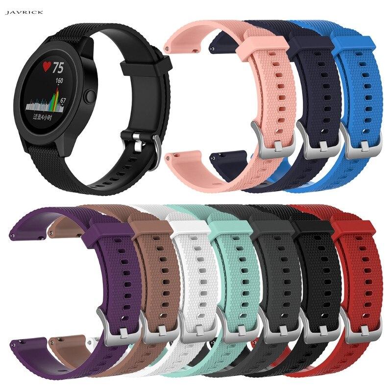 JAVRICK Silicone Replacement Watch Band For Garmin Vivoactive 3 Vivomove Vivomove HR jansin 22mm watchband for garmin fenix 5 easy fit silicone replacement band sports silicone wristband for forerunner 935 gps